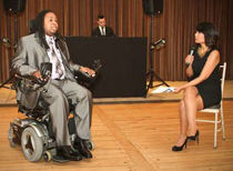 WTNH's Jocelyn Maminta and former Rutgers football player Eric LeGrand